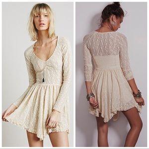 Free People Look Both Ways Lace Slip Dress
